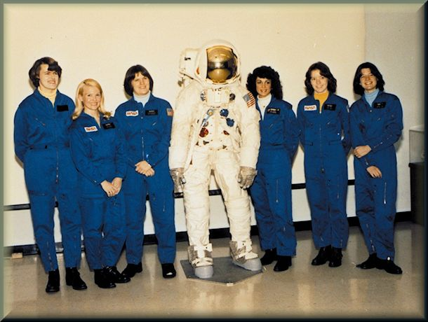 The women selected by NASA as the first female astronaut candidates in January 1978