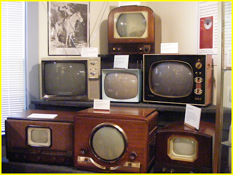 Television evolution of round screens to rectangular