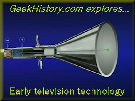 The television picture is created on the surface of the cathode ray tube (CRT)