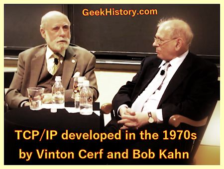 Bob Kahn and Vinton Cerf set the standards