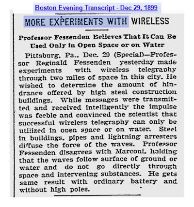 Fessenden wireless 1899