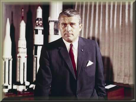 NASA rocket scientist Wernher von Braun powered Apollo 11